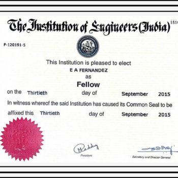 Certificate of Fellowship